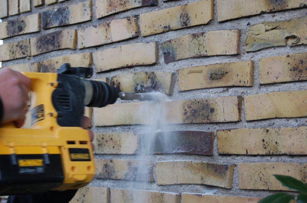 Hvordan borer man i mursten