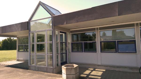 Indgang til administration ved Flex Lager & Depotrum
